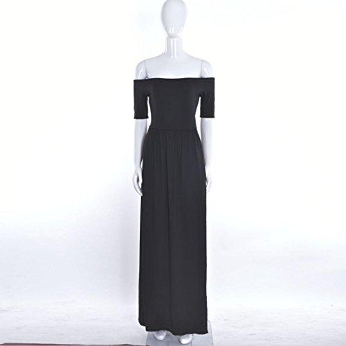 de Vestido honor largo vestido Xinan de de noche de del Vestido las fiesta mujeres dama Mujer Negro De de nrYrB4I