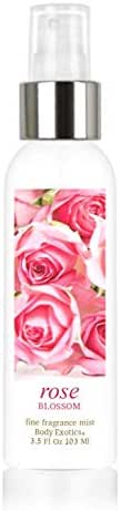 Rose Blossom Voted Best Rose Perfume Fine Fragrance Mist Body Exotics 3.5 Fl Oz 103 Ml ~ For the Rose-lover, the Irresistible Scent of Full Blooming Roses, with Rose Essential Oil