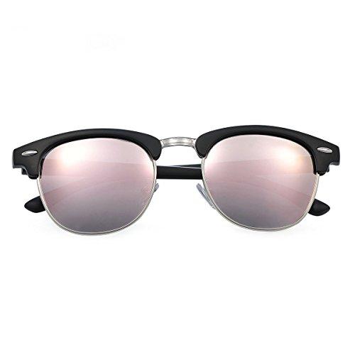 Yveser Mate polarizadas Rosa de Yv5156 para Gafas sol Lente Negro hombre mujer y Marco 17r4w1qxSt