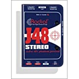 Radial J48 Stereo Active DI for Acoustic Guitar & Bass with Extra Headroom and High-Pass Filter