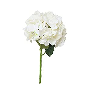 Longay Artificial Silk Fake Flowers Peony Floral Wedding Bouquet Bridal Hydrangea Decor (A) 18
