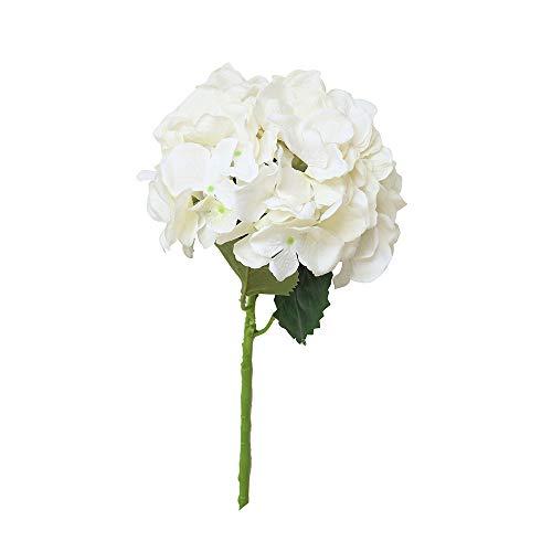 Longay Artificial Silk Fake Flowers Peony Floral Wedding Bouquet Bridal Hydrangea Decor (A)