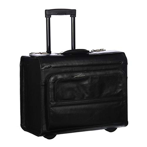 (Rolling Catalog/Litigator Briefcase, Leather Carriage Bag, Business Softside Type, Dual Combination Locking, Solid Pattern Telescopic, Locking Handle System Leather Carrying Handle Inline Skate)