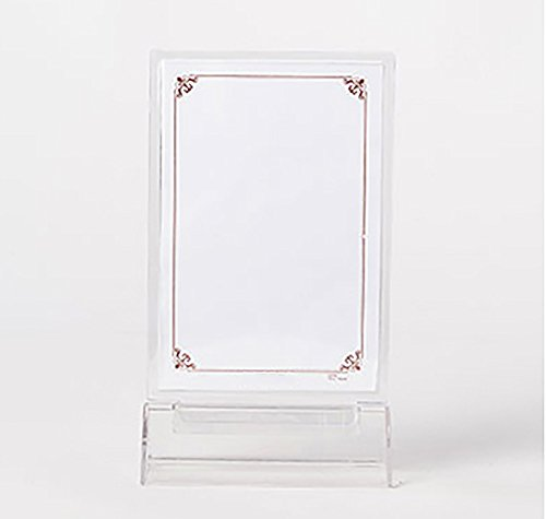 Clear Acrylic Sign Holder Ad Frames with L-Shaped Flat Base 11-Inchx8.5-Inch 6-Pack