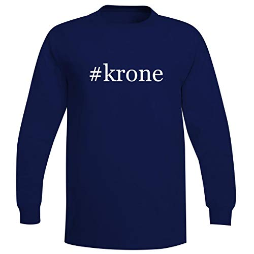 The Town Butler #krone - A Soft & Comfortable Hashtag Men's Long Sleeve T-Shirt, Blue, XXX-Large