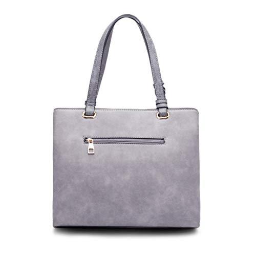 Women's Shoulder Tassel Casual Pu Soft Leather with Bag Khaki Zipper R6HrRUqw
