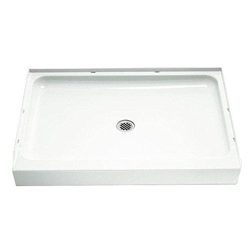 STERLING/Vikrell Ensemble 48-Inch Shower Base, White, High Gloss #72121100-0 ()