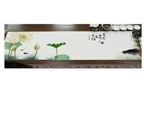 US-ROGEWIN Table Runner Vintage Chinese Style Classical Elegant Cotton Linen Tablecloth Refined Concise Bed Flag Tea Mat