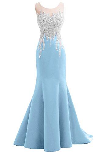 Vestido claro azul para Topkleider Mujer Y1qdzz