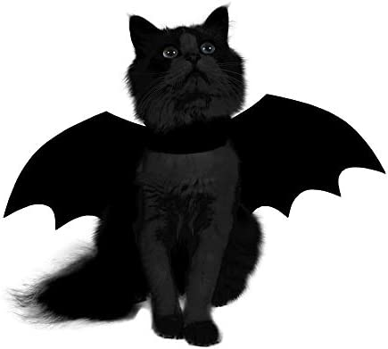 Spooktacular Creations Halloween Bat Wings Cat Pet Costume for Cosplay Party, Halloween Party Decoration, Holiday Decorations Clothing, Cat Dress Up Accessories 16