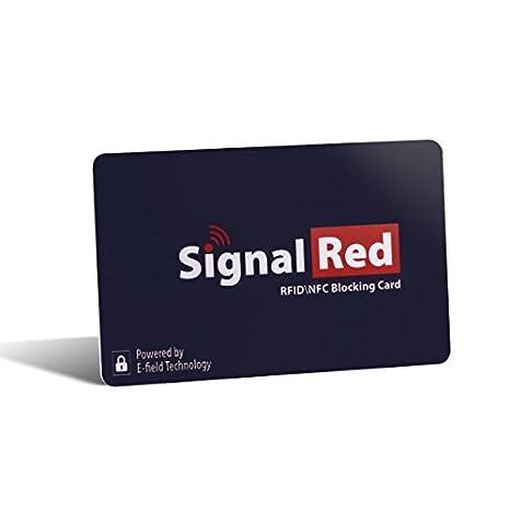 Protector de tarjetas de crédito – 1 sola tarjeta bloqueadora de RFID bloquea todas las señales