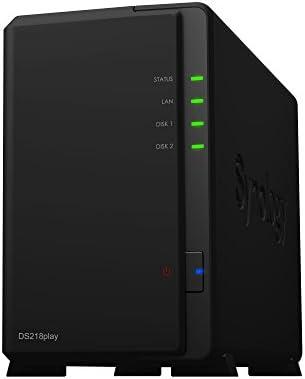 Synology DiskStation DS218play Ethernet Compacto Negro NAS - Unidad Raid (2 TB, Unidad de Disco Duro, Unidad de Disco Duro, SSD, SATA, Serial ATA II, ...