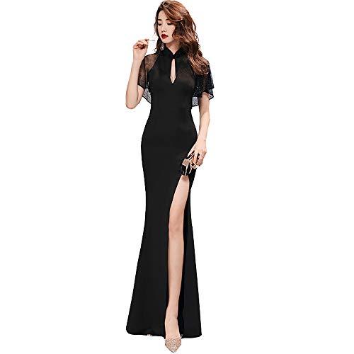 Cinese abito Slim Cheongsam New Sera Red Nero colore stile Longtail Abbigliamento Sexy Fxnn Black Dimensioni Da Xl IqPxRxwSC