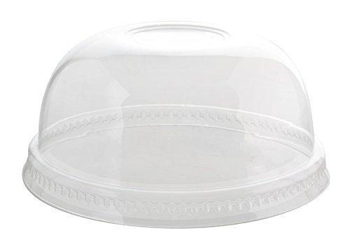 Fineline Super Sips 3195DL 95mm PET Dome Lid No-Hole, Clear -