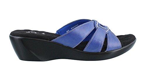Berceaux De Marche Sandale Coco Femme Bleu