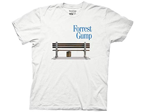 - Ripple Junction Forrest Gump Adult Unisex Box of Chocolates Bench Light Weight 100% Cotton Crew T-Shirt 2XL White