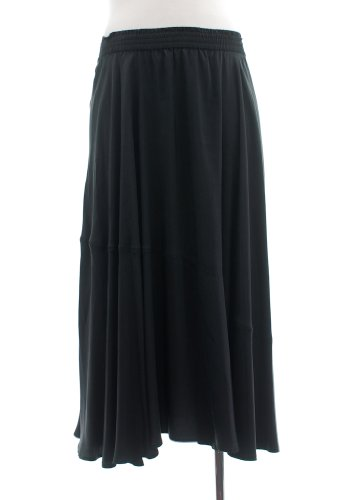 Bloomingdale's NOW Black Plus Size Long Skirt with Elastic Waist (1X)