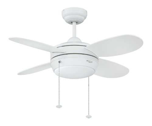 Litex e mlv36mww4lk1 maksim collection 36 inch ceiling fan with four litex e mlv36mww4lk1 maksim collection 36 inch ceiling fan with four matte white blades and single light kit with opal frosted glass by ellington aloadofball Image collections