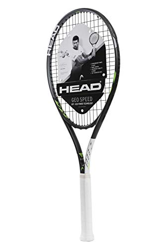 HEAD Geo Speed Adult Tennis Racket – Pre-Strung Head Light Balance 27.5 Inch Racquet – 4 3/8 In Grip