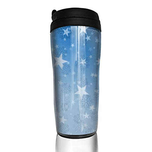 (Christmas Snowflake Travel Mug Coffee Thermos Stainless Steel Flask Water Bottle )