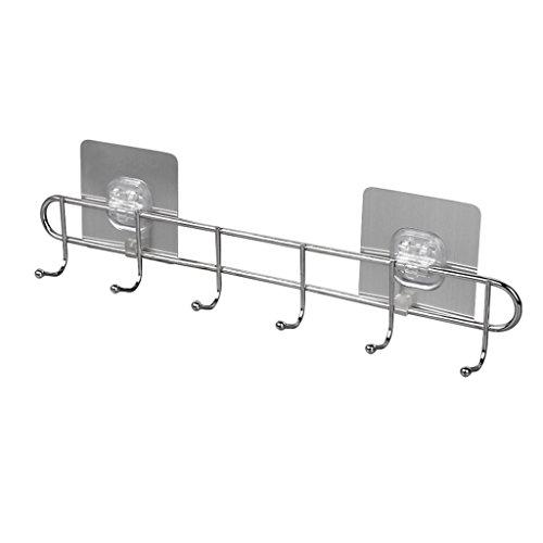 - Baoblaze Stainless Steel 6 Hook Rack for Keys Apron Tea Towel Shabby Kitchen Bathroom