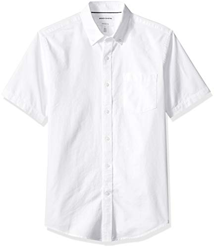 Amazon Essentials Men's Slim-Fit Short-Sleeve Solid Pocket O