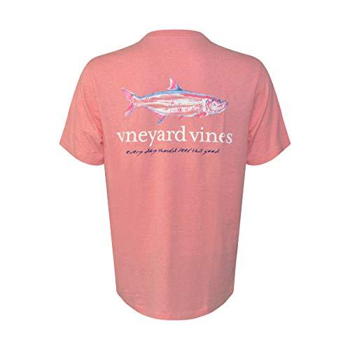 9dd9b9f54 Vineyard Vines Men's Short Sleeve Graphic Pocket T-Shirt (Painted Tarpon  Fish Strawberry,