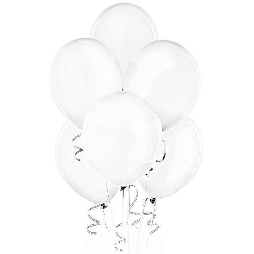 24 Inch White Latex Balloons (Premium Helium Quality) Pkg of 10