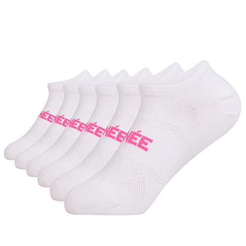 (Women's 6-Pairs Casual Ultra Low Cut Socks No Show Athletic Non Skid With Grips for Yoga,Hospital)