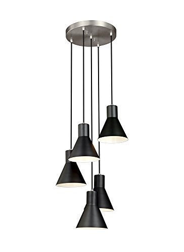 Sea Gull Lighting 5141305-962 Five Light Cluster Pendant - 28 Sea Gull Lighting