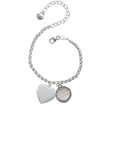 Heart Locket Sisters Are Best Friends Forever Engraved Bracelet