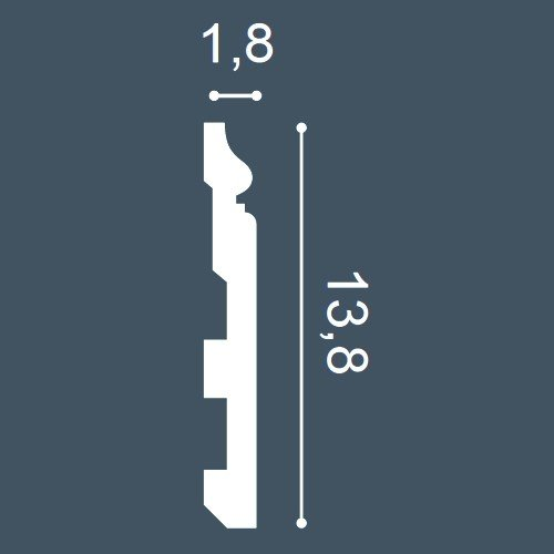 /Échantillon Plinthe Moulure d/écorative Longueur env 10 cm 1 /ÉCHANTILLON S-SX118 Orac Decor LUXXUS
