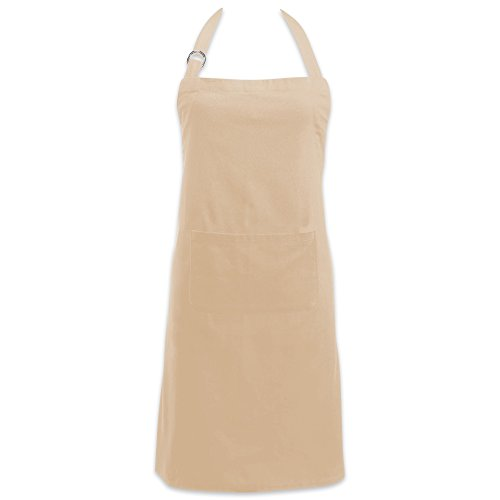 DII Cotton Adjustable Kitchen Chef Apron with Pocket and Extra Long Ties, 32 x 28