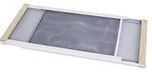 Marvin Adjustable Window Screen 10'' H, Extends 15'' To 25'' Steel Charcoal Extends 15'' To 25''