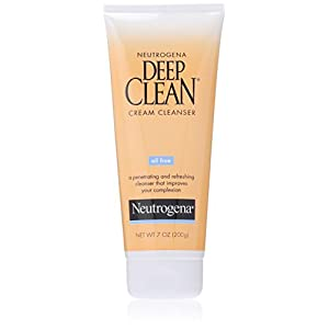 Neutrogena Deep Clean Cream Facial Cleanser With Salicylic Acid, 7 Fl. Oz. (Pack of 3)