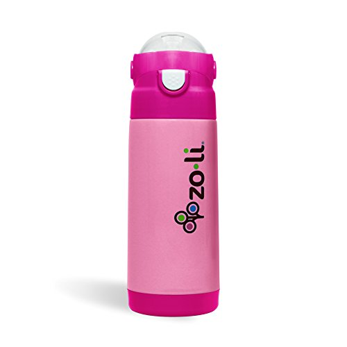 Pink ZoLi PIP Straw Water Bottle 18 oz