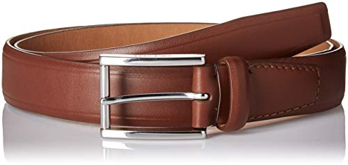 Haan Belt Cole Mens (Cole Haan Men's 32mm Smooth Leather Belt, british tan/polished nickel 36)