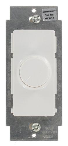 3 Way Preset Dimmer (Leviton RPI06-1LZ IllumaTech 600W Preset Incandescent Illuminated Rotary Dimmer, Single-Pole and 3-Way, White/Ivory/Light Almond)
