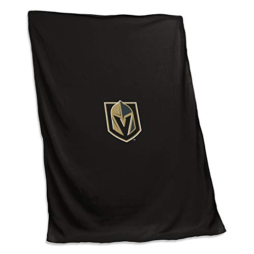 Logo Brands 874-74 NHL Las Vegas Golden Knights Unisex NHL 54X84 Sweatshirt Blanket with Tackle Twill Patch, One Size, Black