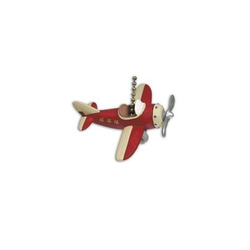 Airplane Ceiling Fan Pull (RED PLANE propeller AIRPLANE ceiling FAN PULL)