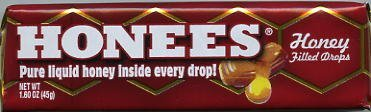 Honees - Honey Filled Drops - 9 Lozenges (pack of (Gold Lozenge)