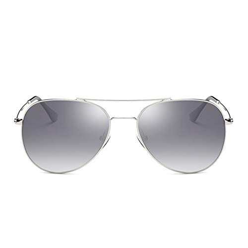 Gafas Lens de para Black Gray Gafas Sakuldes Silver polarizadas Retro Steampunk Frame de Black Frame Sol Lens Sol Hombres Color Redondas YSRRwq