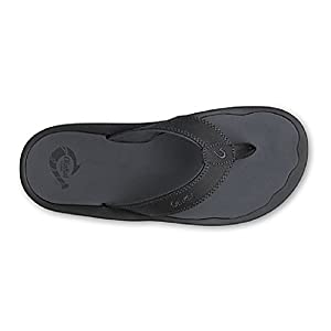 OluKai 'Ohana Sandal - Men's Black/Dark Shadow 10