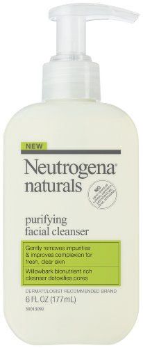 Neutrogena Naturals Purifying Facial Cleanser, 6 Ounce, (Pack of 2)