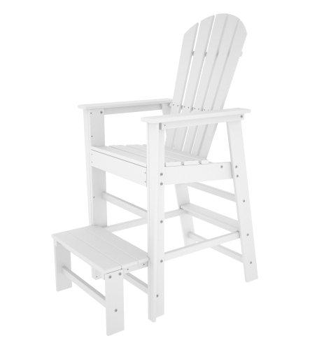 POLYWOOD SBL30WH South Beach Lifeguard Chair, (South Beach Patio Furniture)