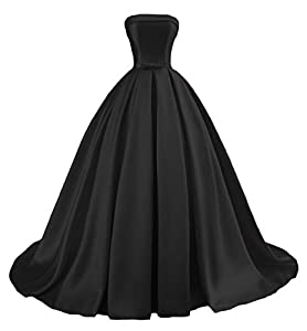 Dymaisei Women's Strapless Ball Gown Prom Party Dresses 2019 Long Formal Dresses