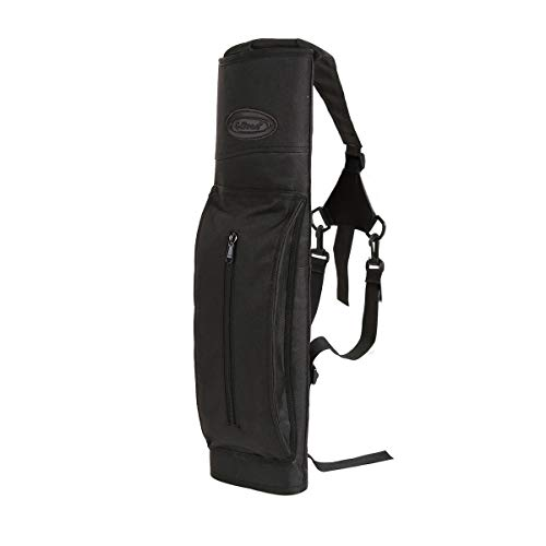 - G4Free Archery Deluxe Canvas Back Arrow Quiver Hunting Target Arrow Quiver(Black)
