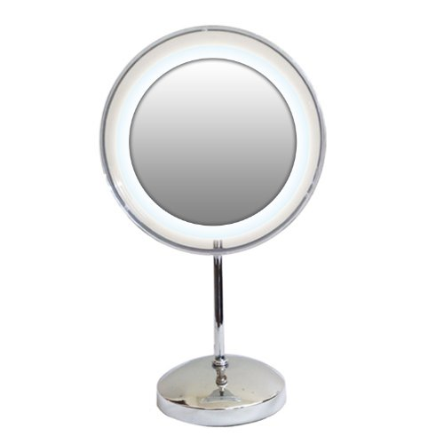 Rucci Acrylic Ring Lighted Mirror, 10X