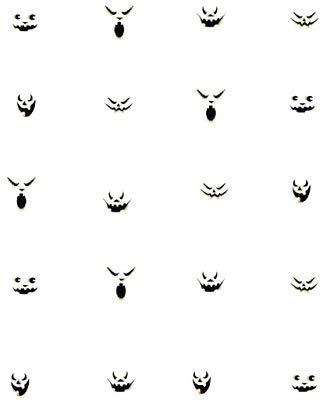 CHILD SIZED Jack-O-Lantern Faces/Halloween Waterslide Nail Decals/Nail art -