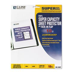 * Super Capacity Sheet Protector with Tuck-In Flap, Letter Size, 10/Pack (Sheet Protector Capacity Super)